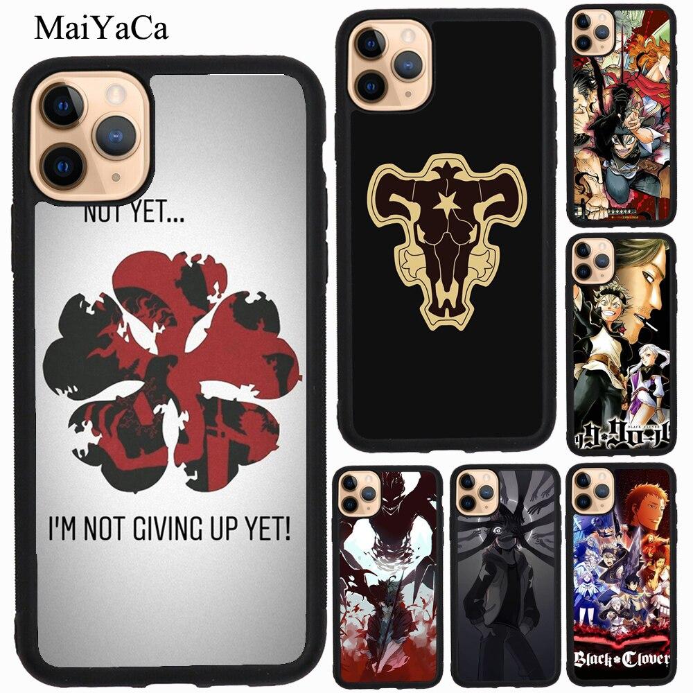 MaiYaCa Anime negro trébol caso para iPhone 11 Pro Max XR X XS X Max 5S SE 2020 8 S 6 7 Plus Coque Fundas