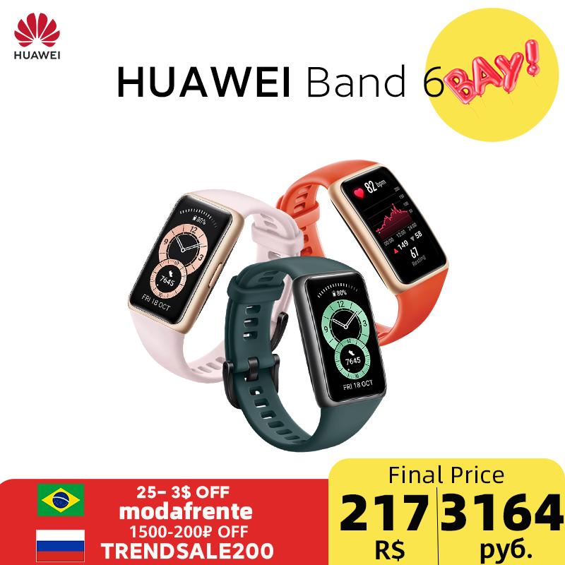 Huawei Band 6 Smartband Blood Oxygen 1.47''AMOLED Band6 Heart Rate Tracker Sleep monitoring Band 6