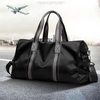 high quality large capacity oxford textile waterproof travel bag weekend men fitness handbag independent dry wet separation bags