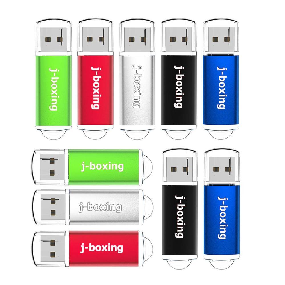 Bulk 10PCS 256MB USB Flash Drive Small Capacity Rectangle Thumb Pen Drive USB2.0 Flash Stick Pendrives USA Stock Multicolors