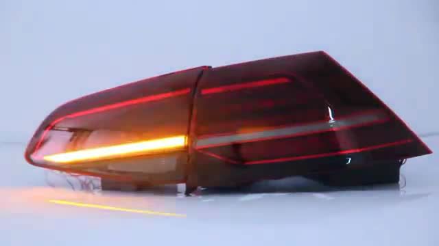 Car parts rear light sequential tail lamp for  Golf mk 7 2014-2016
