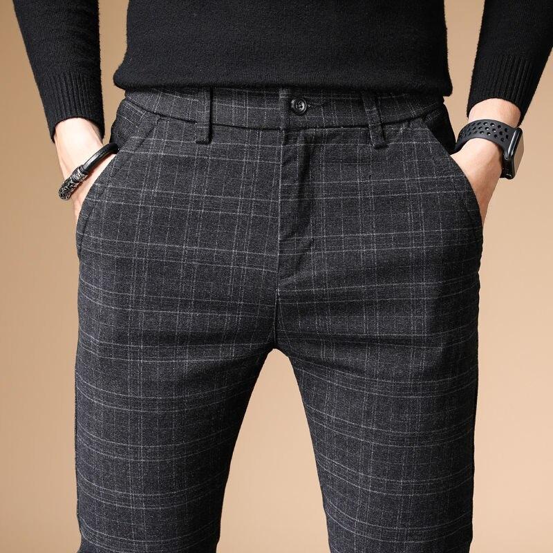 Pantalones informal de algodón seré y lino grueso para hombre... Pantaln recto...