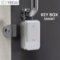 YEEUU K1 Smart Key Box Aluminum Alloy Fingeprint / Password / Bluetooth Support Tuya / Smartlife APP Waterproof IP44 2020 New Mo