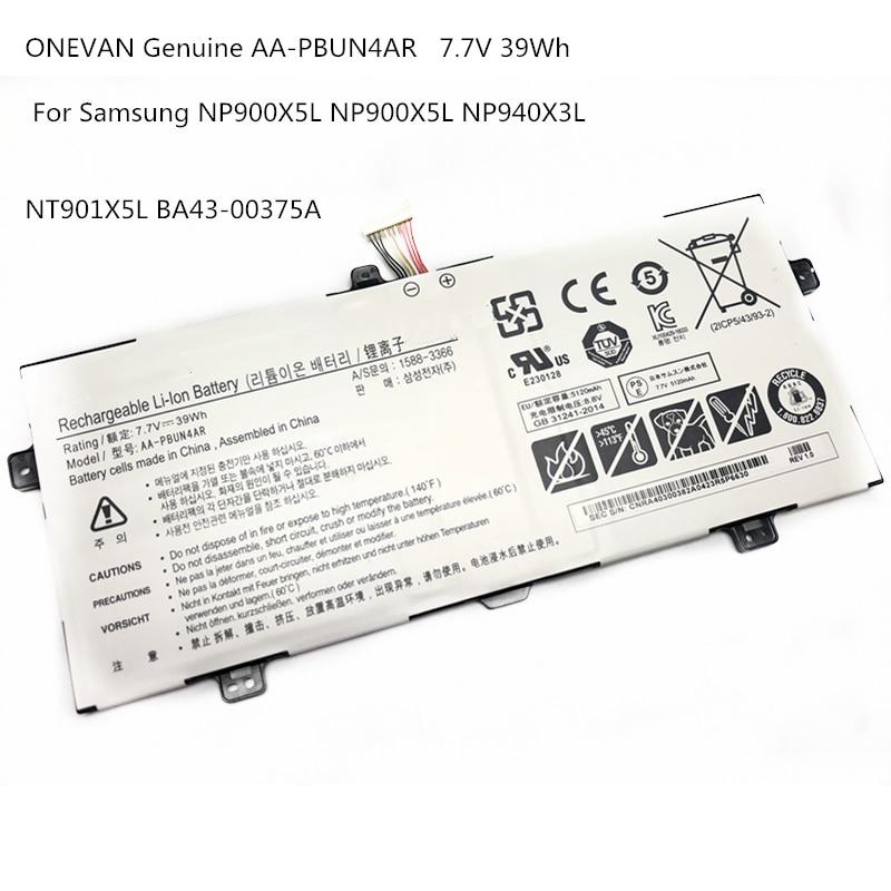 ONEVAN جديد حقيقية AA-PBUN4AR بطارية كمبيوتر محمول لسامسونج NP900X5L NP940X3L NT900X5M NT900X5P NT900X5W NT901X5L 7.7V 39WH