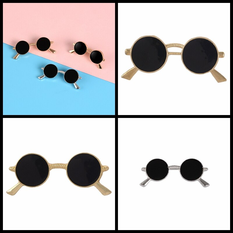 Delicate Mini Sunglasses Brooch wholesale Costume Shirt Decoration Alloy Pin Drop Oil Gold Silver Gl