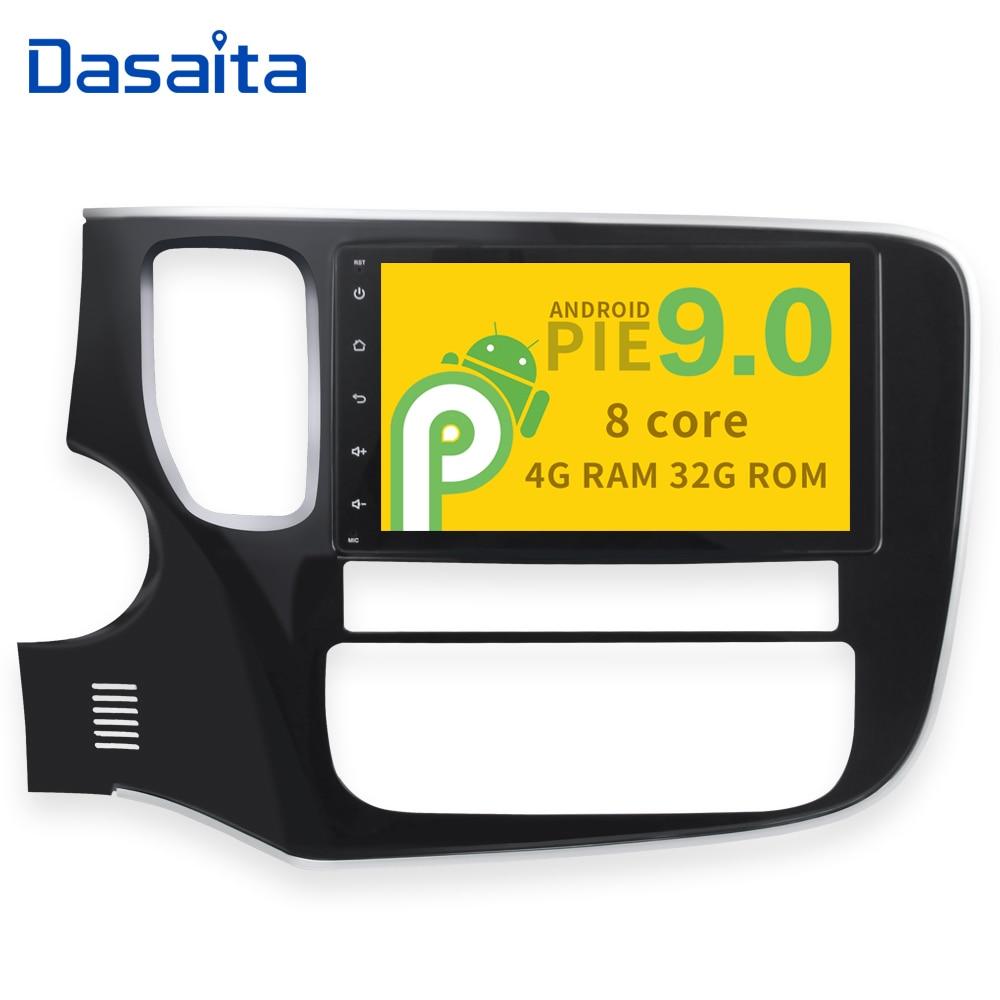 "Pantalla táctil Digital HD de 8 "", vídeo 1080P, reproductor de Radio para coche 1Din, Android 9,0 Octa Core para Mitsubishi Outlander 2014 2015 2016"