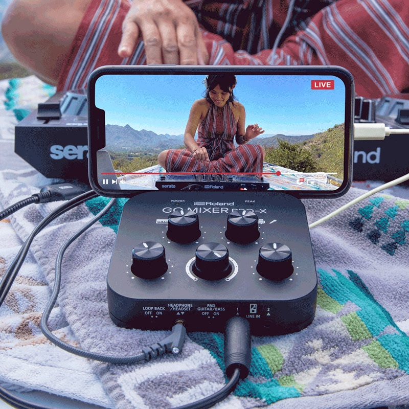 Roland GO Mixer PRO-X  Audio Mixer And Audio Interface For Smartphones And Computers In 2021 Live Streaming Guitar Playing enlarge