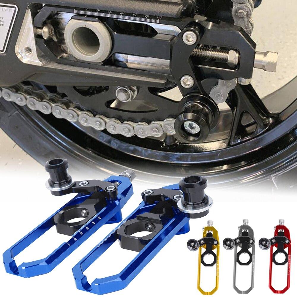 قطع غيار لدراجة نارية بي إم دابليو طراز S1000R HP4 S1000RR 2009-2020 من الألمونيوم بالتحكم في سلسلة اليمين الأيسر مع ملحقات بكرة الشد