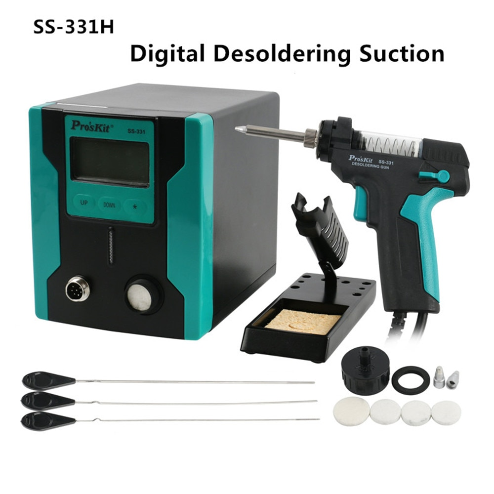 SS-331H Digital Desoldering Suction Electric Desoldering Gun Sucker 220V welding gun  for PCB solder repair and  DIP components