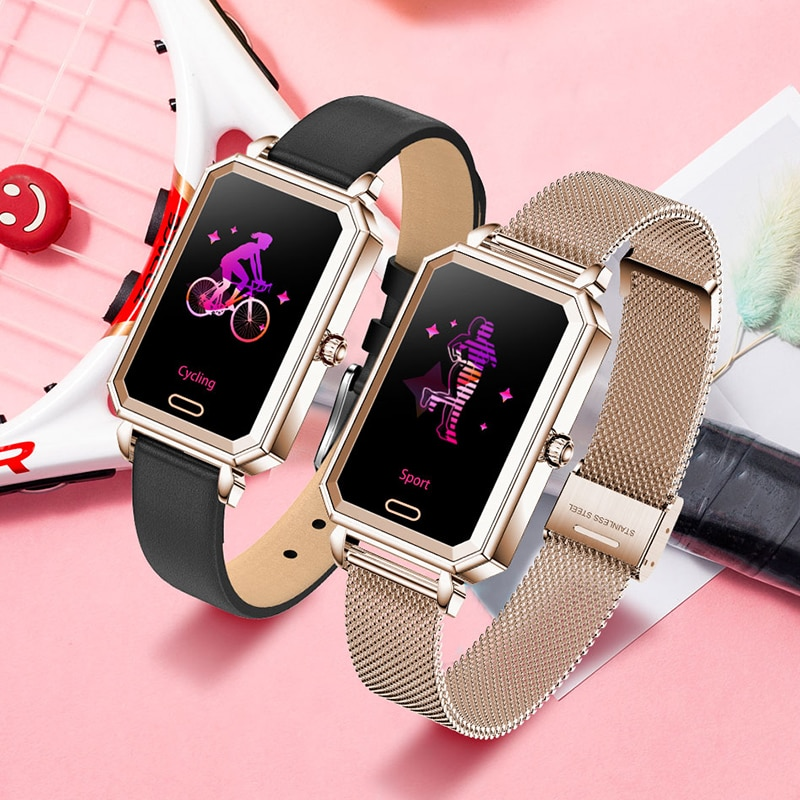 2021 New IP68 Waterproof Smart Watch Women Lovely Bracelet Heart Rate Monitor Sleep Monitoring Smartwatch Connect IOS Android