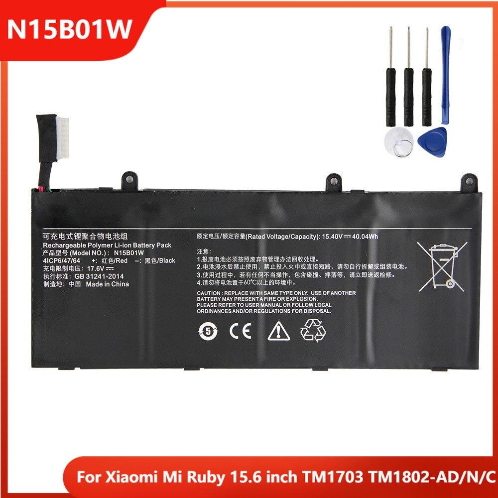 Xiao Mi Original Replacement Laptop Battery N15B01W For Xiaomi Mi Ruby 15.6 inch TM1703 TM1802-AD/N/