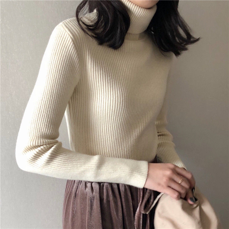 Autumn Winter Sweater Women's 2020 Slim-Fit Turtleneck Top Woman Sweaters Femme Chandails Pull Hiver
