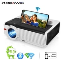 Projecteur LCD Caiwei 1080P Android videoprojecteur 1G RAM 8G ROM Home cinema Proyector pour le divertissement a domicile education