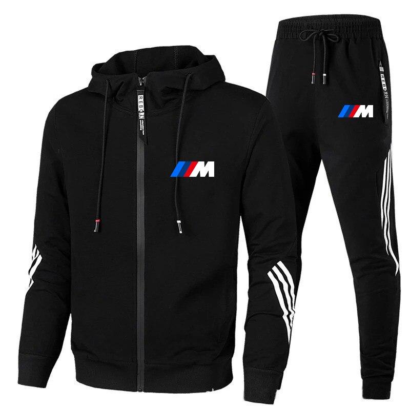 Фото - Conjunto de moletom novo BMW m 2 com capuz + calça de moletom com zíper masculino moletom com capuz conjunto knorrtoys com