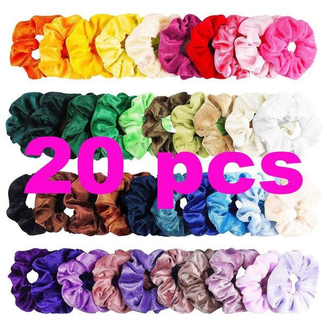 50/20/16/12/10/6PCS Fashion Velvet/Silk Scrunchie  Elastic Hair Rubber Bands Hair Ropes Ties Gum For Women Hair Accessories