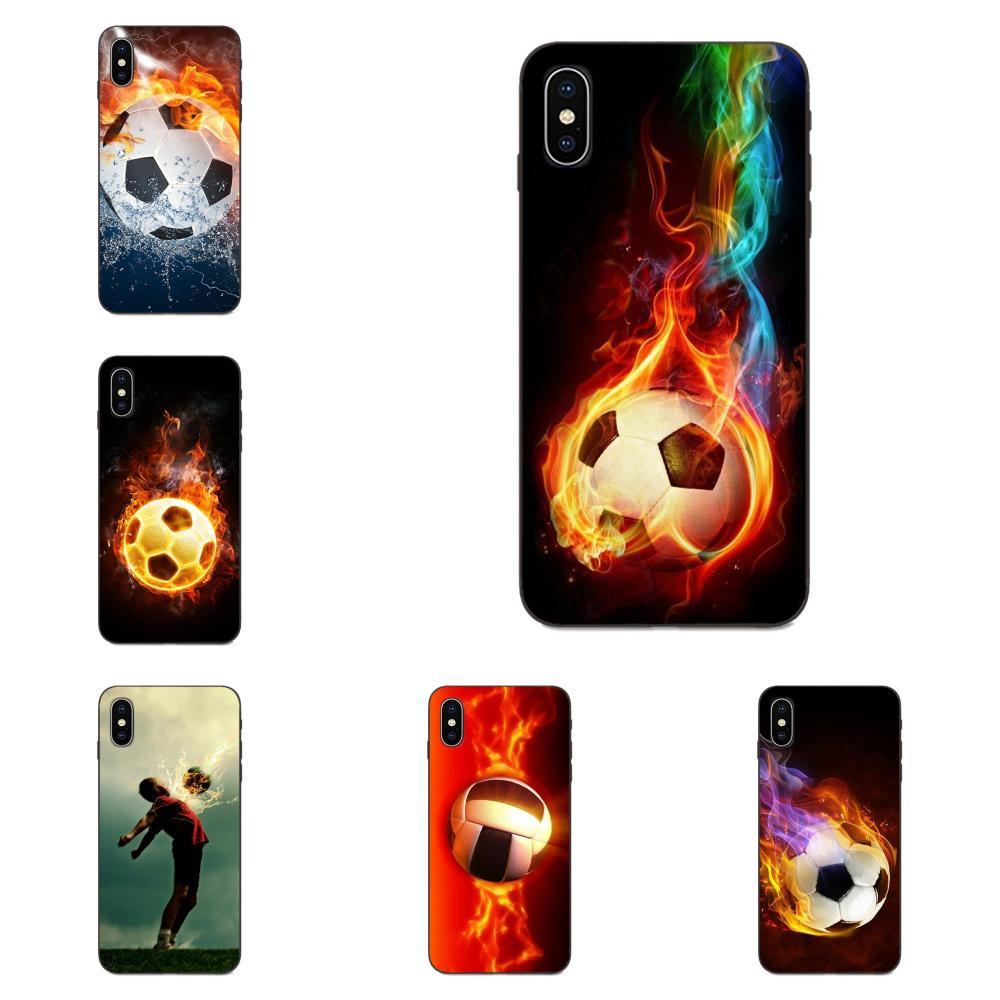 Fuego de fútbol balón de fútbol para Xiaomi Redmi Note 3S 3S 4 4A 4X4 5X5 5A 6 6A 7 7A K20 Plus Pro S2 Y2 Y3 Vertical teléfono caso