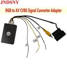 RCD330 Plus RCD360 PRO Car Radio Original 26 PIN RGB to CVBS (RCA) AV Signal Converter Camera Adapter for VW Passat CC Tiguan