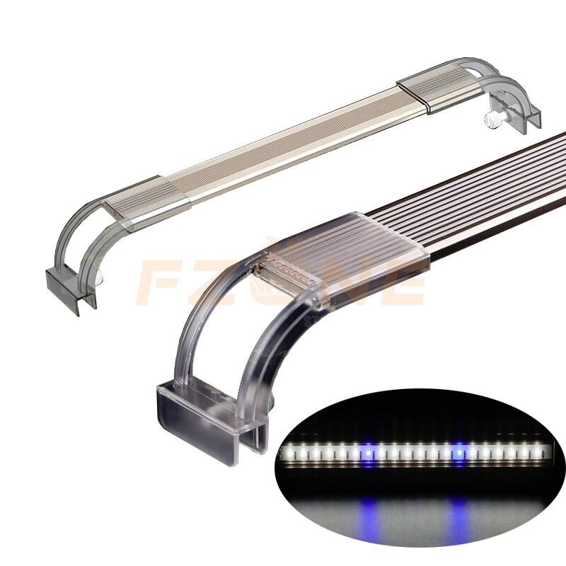 Luz LED para tapa de acuario SUNSUN de espectro completo de 7500K con soportes extensibles para lámpara de cultivo de plantas y peces Tanque De Agua