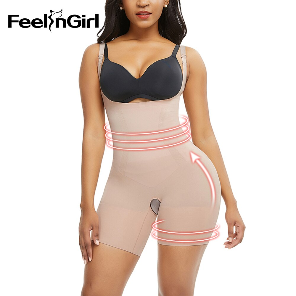 FeelinGirl Waist Trainer Shapewear Slimming Shaper Corset Reductora Butt Lifter Modeling Strap Body Shapers Push Up Tummy Fajas