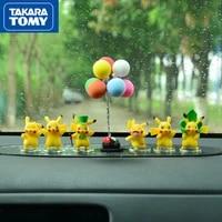 takara tomy pokemon pikachu doll car cartoon ornaments creative car decoration supplies cute car decoration