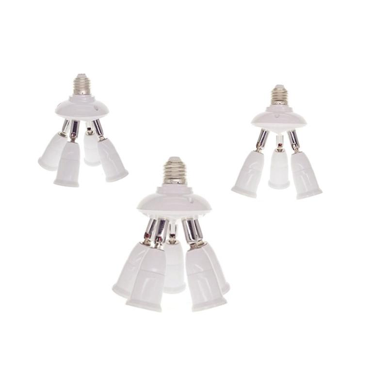 E27 2/3/4/5 in 1 Socket Splitter Rotatable Lamp Base Adapter Converter Flexible Extended Adjustable Lamp holder for Lamp Bulbs