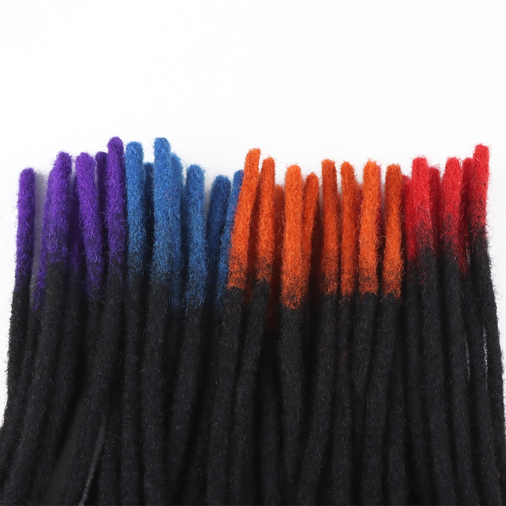 60 Strands VAST Strong Dreads Extensions Human Hair Dreadlocks T Color For Braiding A Full Head