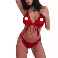 Sexy Lingerie Hot Dress Underwear Lace Set Erotic Lingerie+G-string Sexy Costumes Novelty Special Us