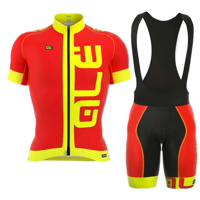 2018 ALE Men Short Sleeve Jersey Set Summer Road Cycle Clothing Outdoor Pro Team Ropa De Ciclismo Hombre Quick-Dry