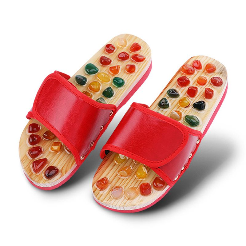 Foot Massager Pebbles Stone Acupoint Massage Slippers Reflexology Acupuncture Therapy Blood Activating Pain Relief Health Care