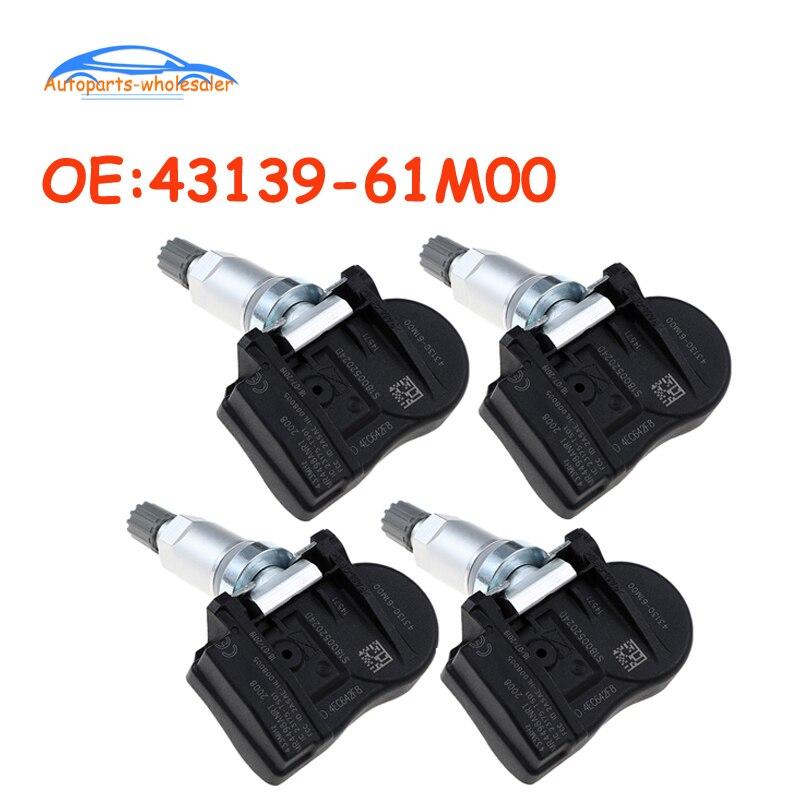 4 pçs/lote para suzuki vitara sx4 s-cruz ignis baleno swift jimmy tpms sensor de pressão dos pneus monitor 43139-61m00 4313961m00 carro