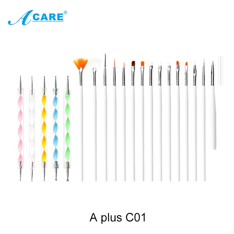 ACARE 15Pcs/Set Nail Brush For Manicure Gel Brush For Nail Art Nail Brush Acrylic Liquid Powder Carving Gel Brush  - buy with discount