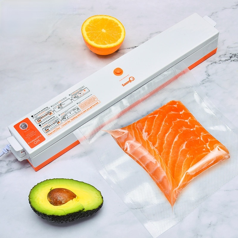 Electric Vacuum Sealer Packaging Machine For Home Kitchen Including 15pcs Food Saver Bags Commercial Vacuum Food Sealing