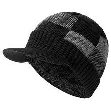 عالية الجودة القطن إضافة الفراء حافة الشتاء القبعات Skullies قبعة صغيرة للرجال النساء الصوف قبعات قناع Gorras بونيه محبوك قبعة