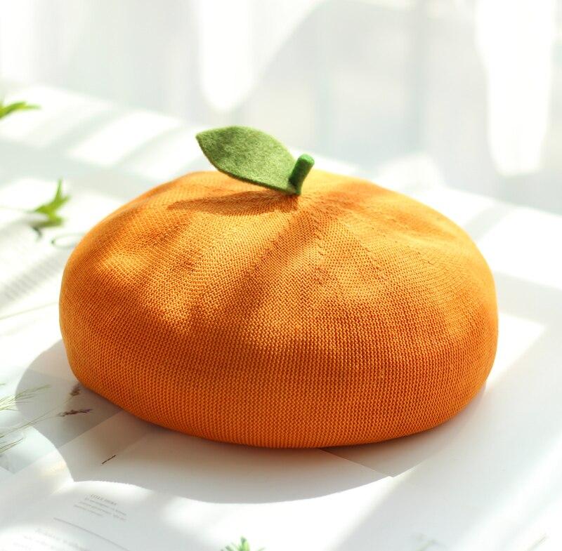 اليابانية لينة شقيقة رسام قبعة الأطفال لطيف ليتل ليف برعم قبعة الفاكهة التفاح البرتقال القبعات الربيع الصيف تنفس