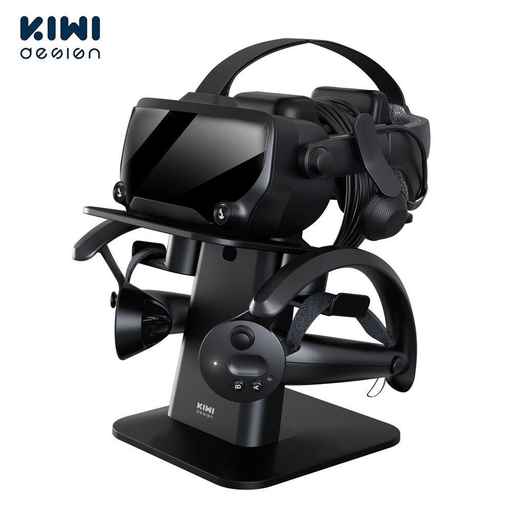 كيوي ديزاين شاشة الواقع الافتراضي المطورة مع حامل للسماعة و حامل وحدة التحكم لملحقات HTC Vive/كوة كويست 1/2 VR