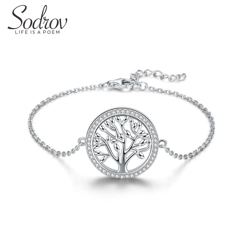Sodrov Bracelet 925 Sterling Silver Couples Women Charm Fine Star Found Fortune Free Life