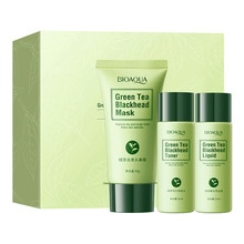 3Pcs/Set BIOAQUA Blackhead Remover Set Beauty Black Nose Mask Nose Care Peeling Peel Off Korea Skin