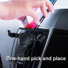 RUZSJ gravité Support pour voiture pour téléphone évent pince de montage Mobile téléphone portable Support Smartphone GPS Support pour tout modèle de téléphone