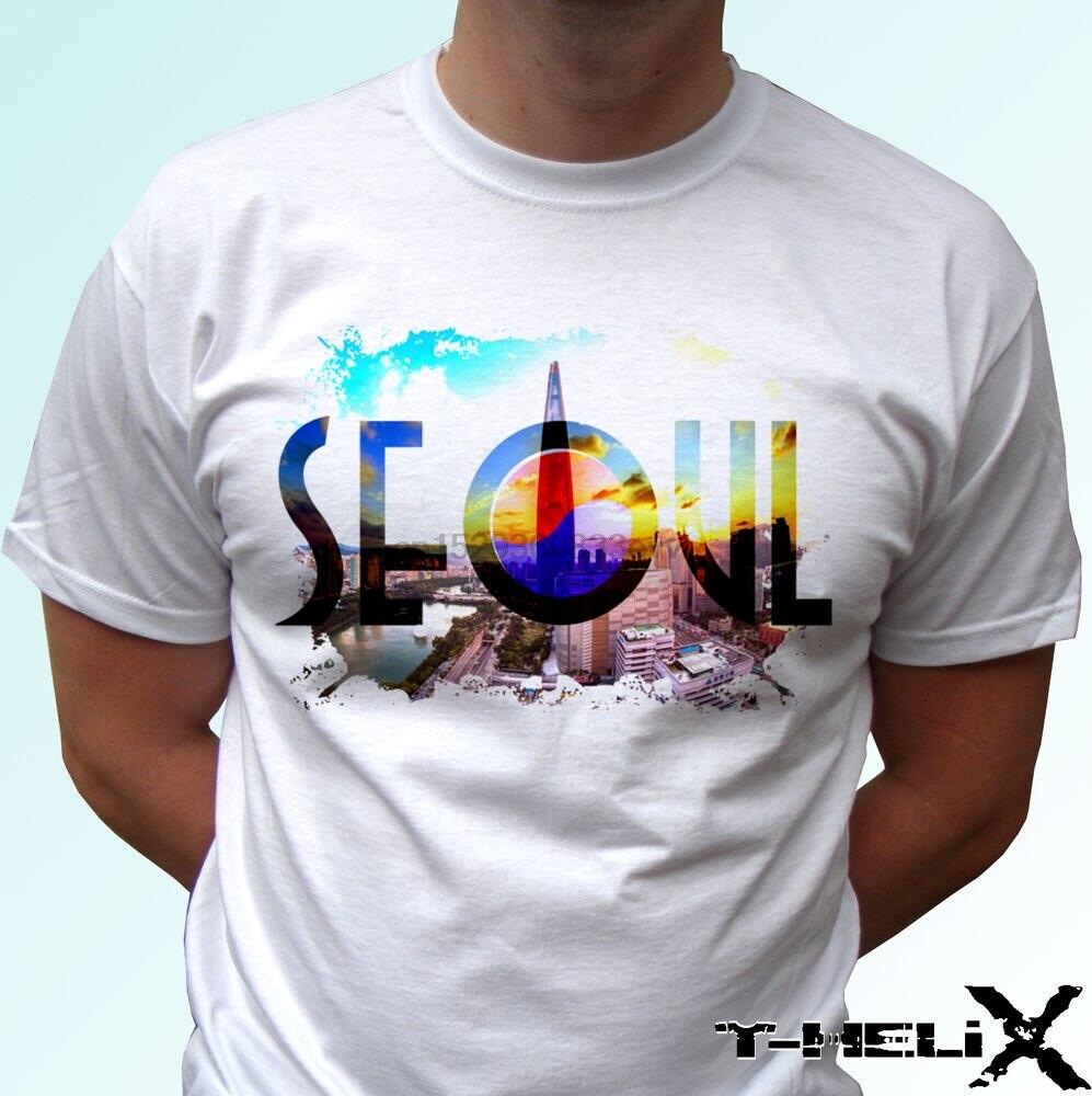 Seoul-Camiseta bandera top camiseta de Corea del Sur diseño hombres mujeres niños tallas de bebé