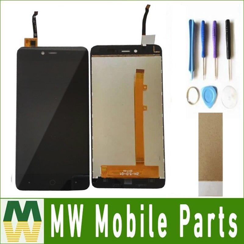 1 Pza/lote para pantalla de alta potencia pantalla LCD + digitalizador de pantalla táctil color negro con herramientas + cinta