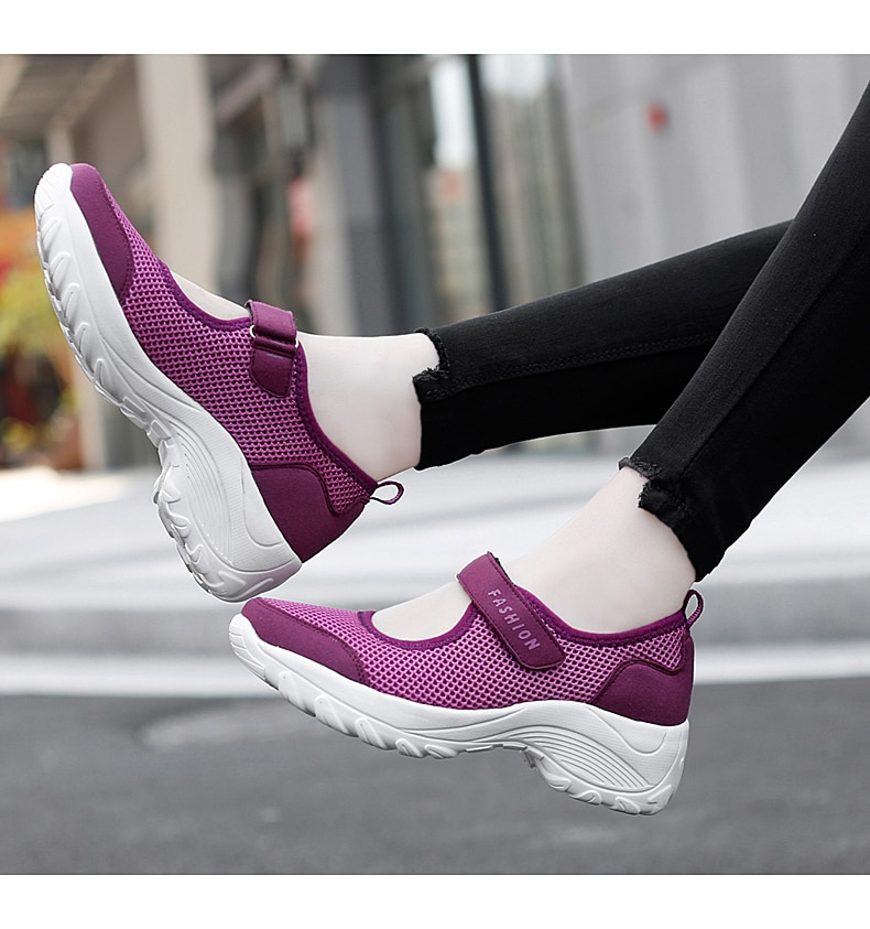 2021 New Mesh Women Vulcanize Shoes Breathable Women Sneakers Lightweight Casual Ladies Shoes Increa
