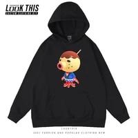 animal crossing autumn 2021 print mens hoodies anime male loose oversized sweatshirt hoodey tops mens boys hoodies streetwear