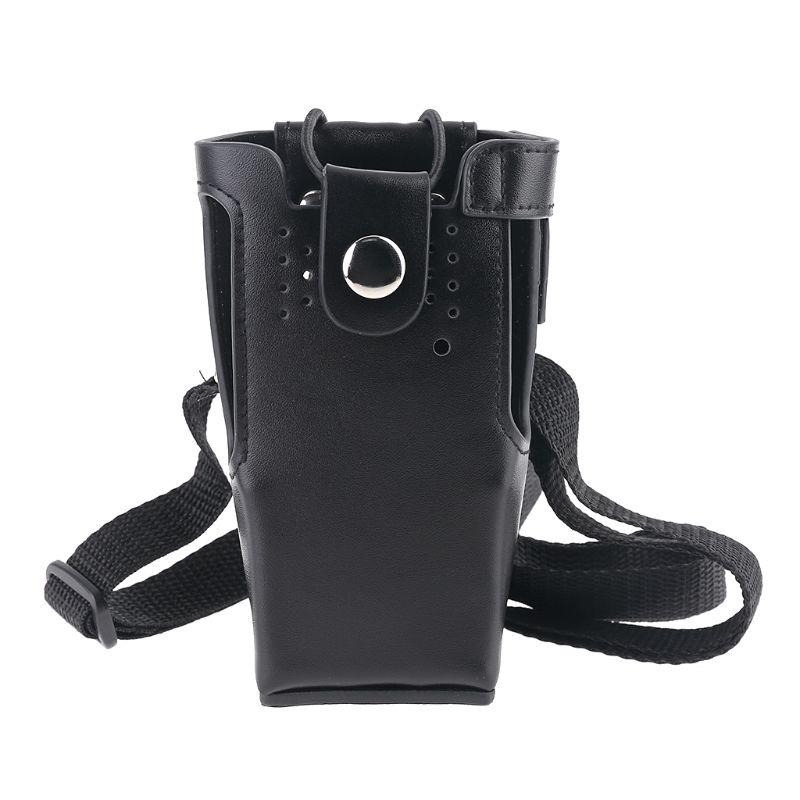Leather Case Holder Storage Bag Pouch for Motorola Radio GP328/338 PRO5150 HT750 DXAC