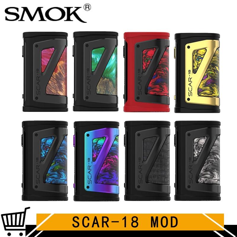 Cicatrice dorigine SMOK-18 boîte Mod Vape VM TC 230W Vape cicatrice 18 Mod IQ-X puce adaptée pour TFV9 réservoir V9 atomiseur Cigarette électronique