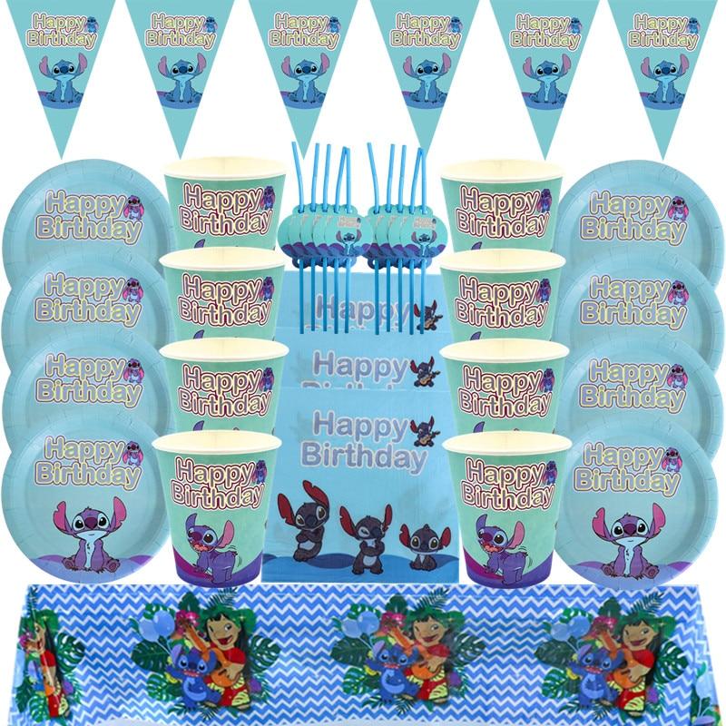 товары для праздника Украшения для дня рождения в стиле Диснея, настенная скатерть с флагом, набор одноразовой посуды, товары для детского праздника