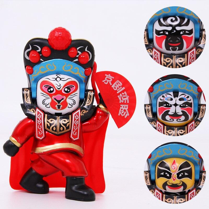 Ópera Sichuan cambio de cara muñecas ópera Sichuan caras Pekín muñecos de ópera cuatro caras juguetes de los niños enviar regalos de amigos