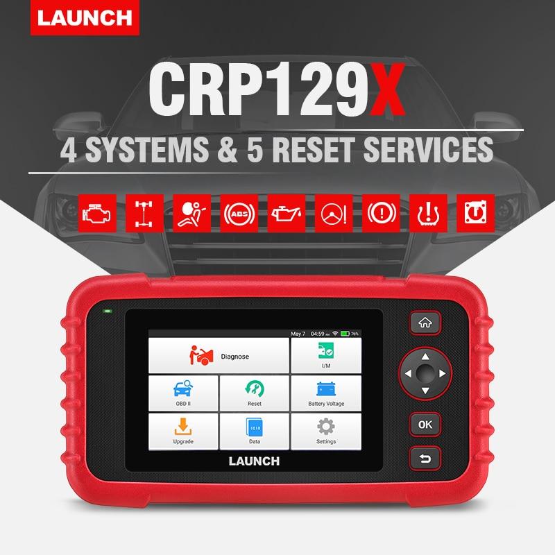 LAUNCH CRP129X OBD2 Scanner Auto Code Reader OBD Diagnostic Tool Car ENG AT ABS SRS Oil SAS TMPS EPB Automotive Scanner Launch