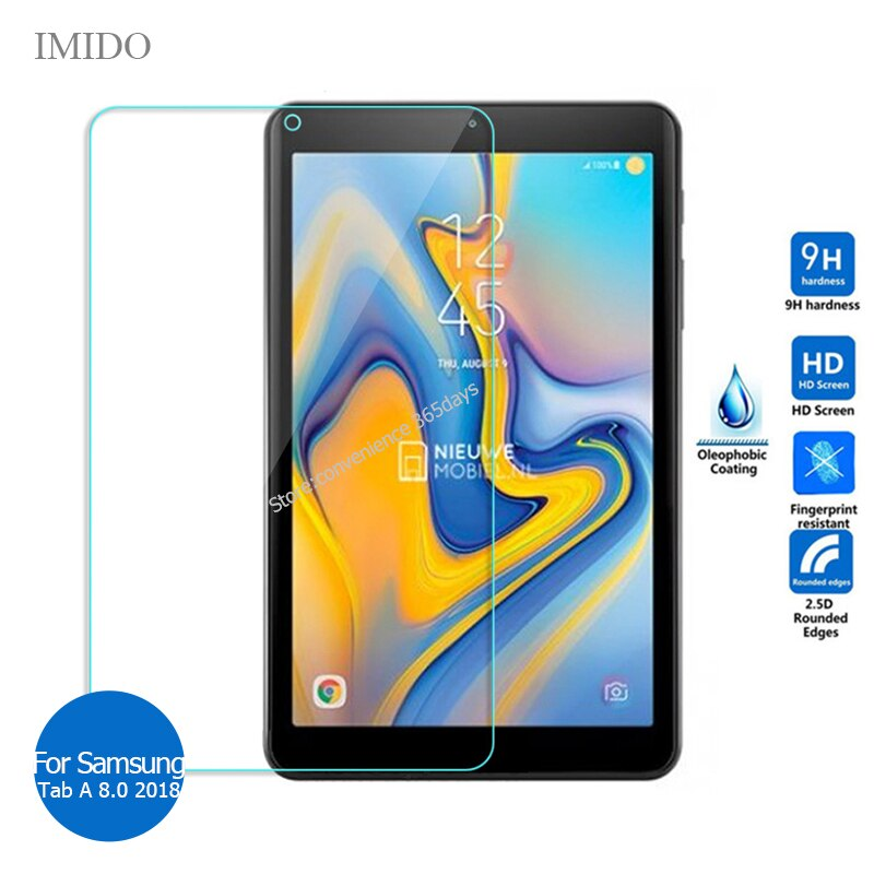 For Samsung Galaxy Tab A 8.0 2018 tempered glass screen protector 9H Safety Protective Film on TabA 8 SM T387 T 387