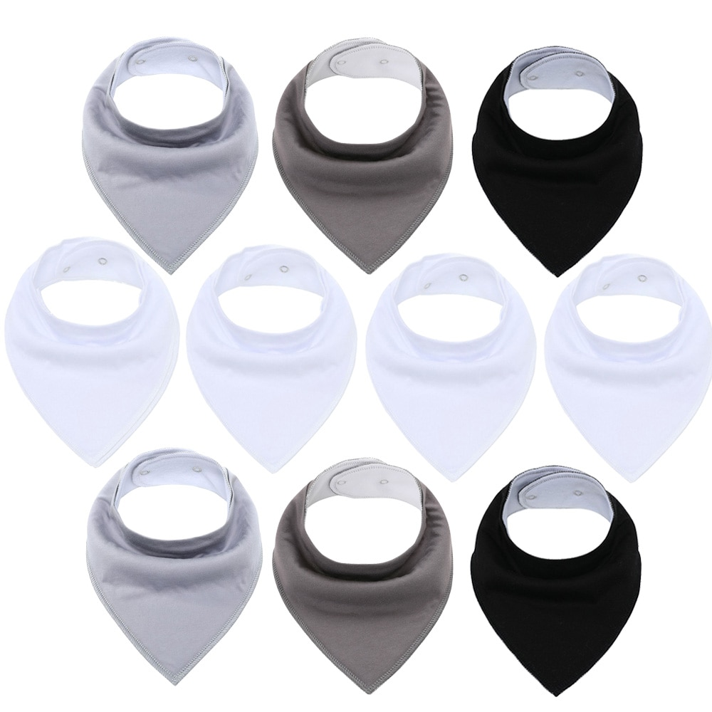10 Pack Baby Bandana Drool Bibs  Super Soft for Boys and Girls Unisex Absorbent Cotton Organic Bib for Teething and Drooling baby bandana bibs with teething toys 100% organic cotton bibs super absorbent drool bib with teether for boys