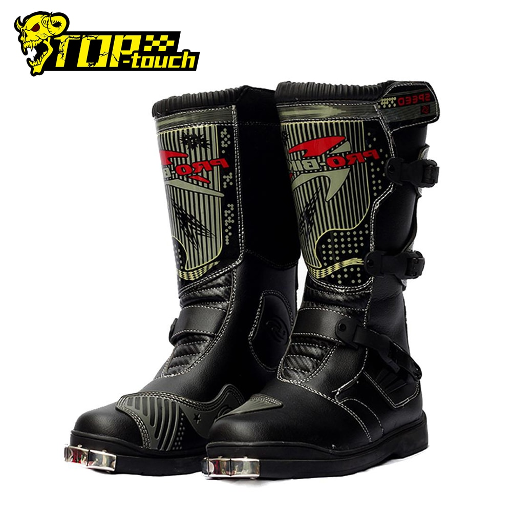 PRO-BIKER Motorcycle Boots Men Waterproof PU Botas Moto Motocross Shoes Protection Long Thigh